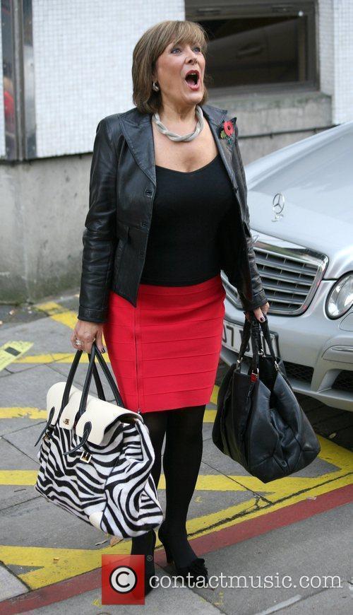 Linda Bellingham outside the ITV studios  London,...