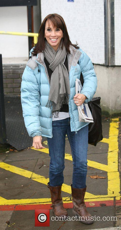 Andrea McLean Celebrities outside the ITV television studios...