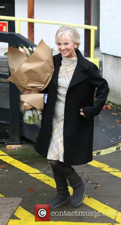 Lisa Maxwell Celebrities outside the ITV television studios...