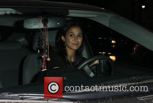 Emmanuelle Chriqui leaves Janes House after attending a...