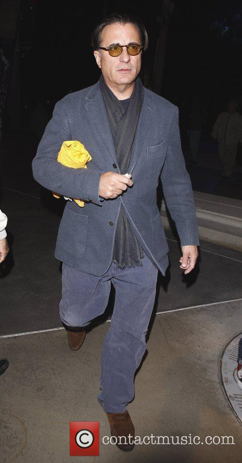 Andy Garcia leaves the Staples Center with a...