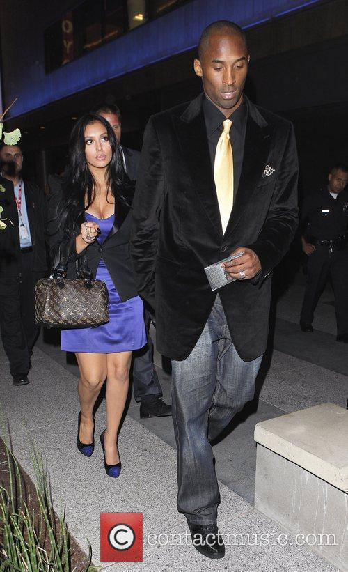 Kobe Bryant Wife on Kobe Bryant And His Wife Vanessa Laine Leave The Staples Center With A