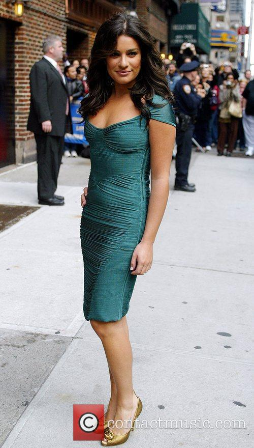 Lea Michele and David Letterman 6