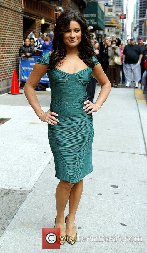 Lea Michele and David Letterman 8
