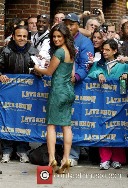 Lea Michele and David Letterman 4