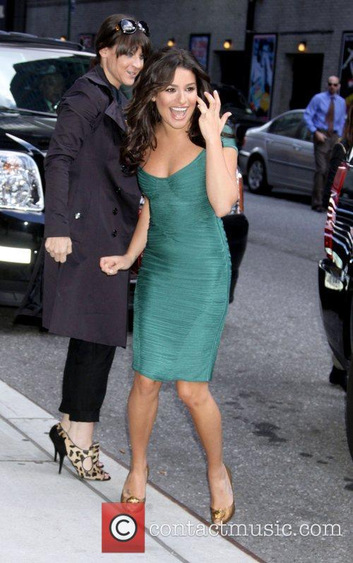 Lea Michele and David Letterman 11