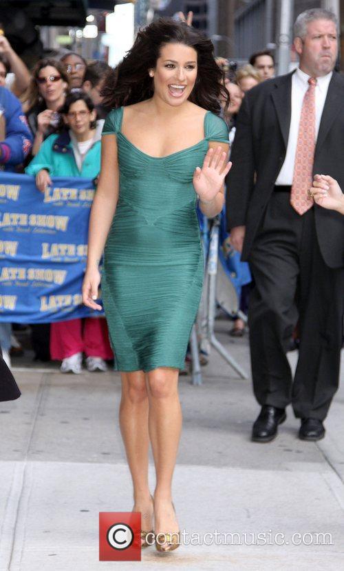 Lea Michele and David Letterman 14