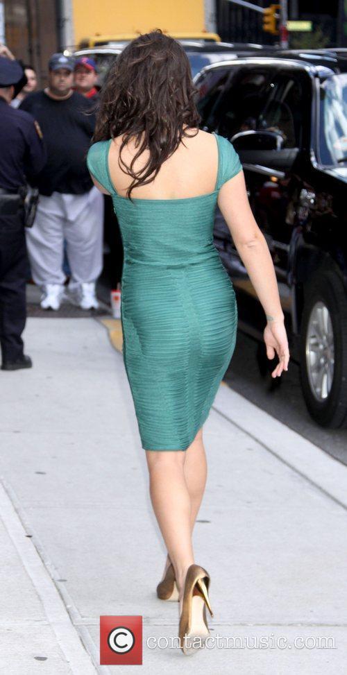 Lea Michele and David Letterman 15