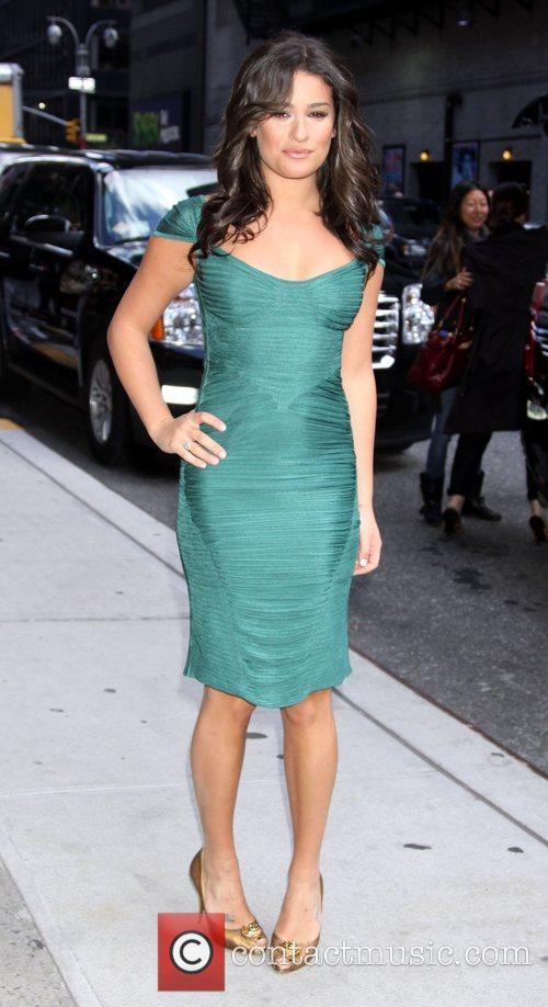 Lea Michele and David Letterman 13