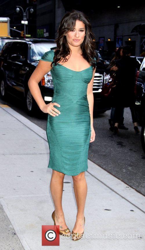Lea Michele and David Letterman 12