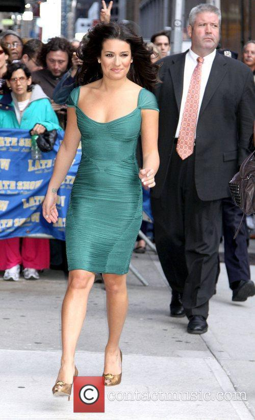 Lea Michele and David Letterman 1