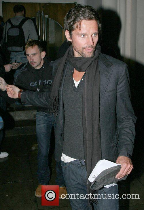 Jason Orange Celebrities at the Maida Vale studios...