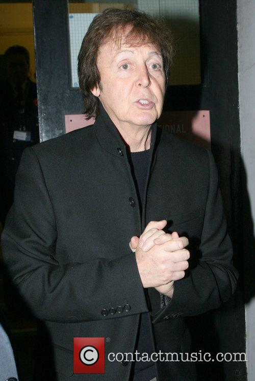 Paul McCartney Celebrities at the Maida Vale studios...