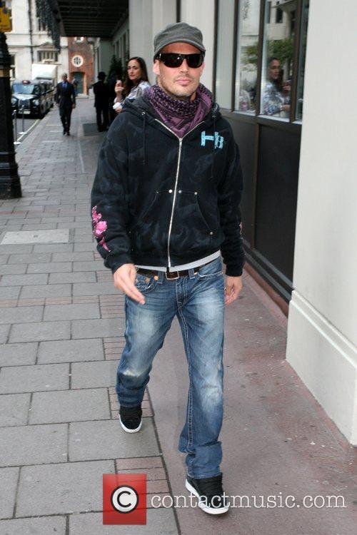 Outside a hotel in Mayfair
