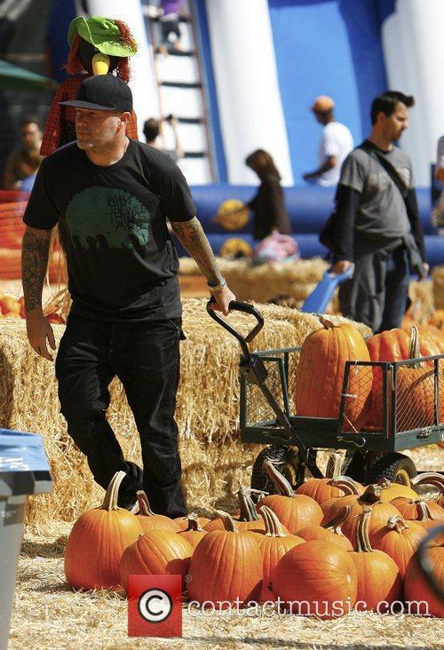 Fred Durst visits Mr. Bones Pumpkin Patch in...
