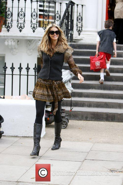 Supermodel, Elle Macpherson makes her way home after...