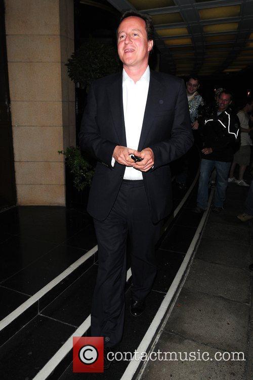 David Cameron  leaving the Dorchester Hotel London,...