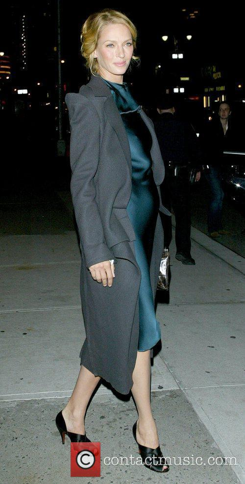 Uma Thurman and David Letterman 8
