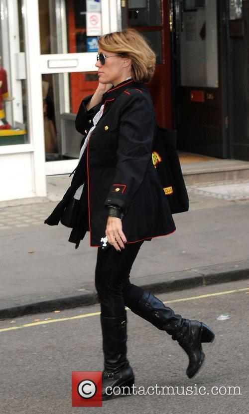 Cerys Matthews outside the Radio 2 studio. London,...