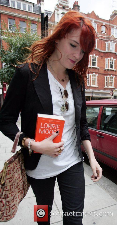 Florence Welch outside BBC Radio 2 studios