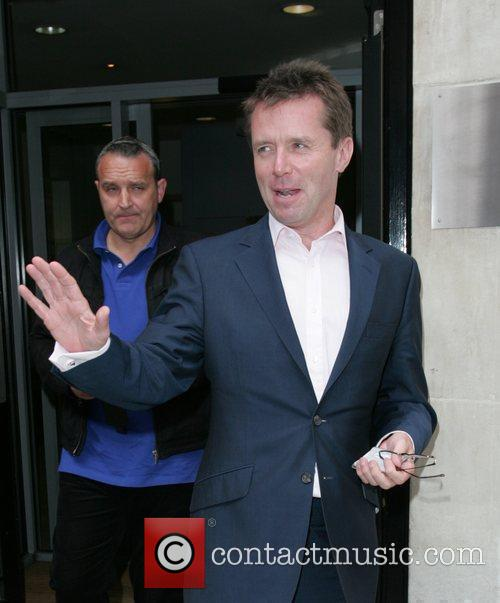 Nicky Campbell outside BBC Radio 2 studios London,...