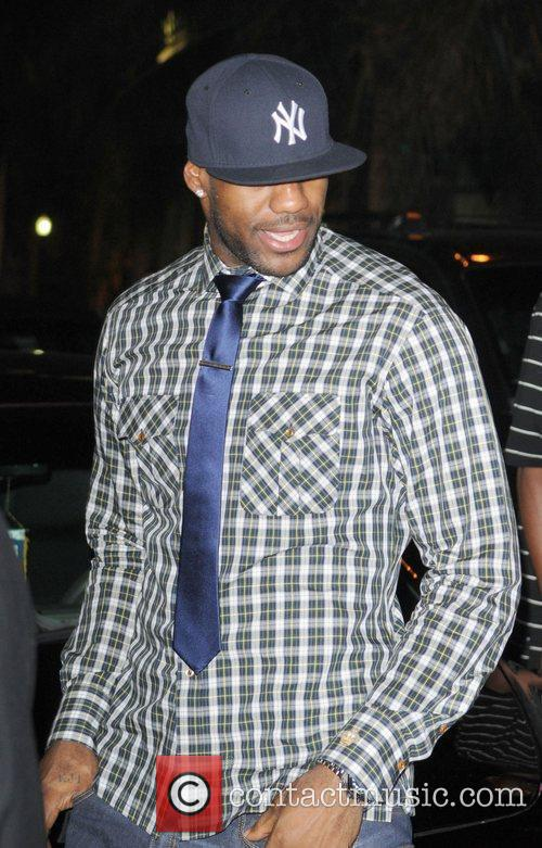 LeBron James at South Beach heading to a...