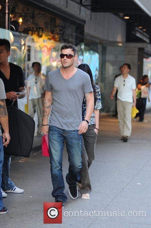Brian Austin Green seen leaving a department store...