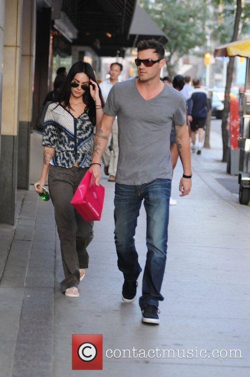 Megan Fox and Brian Austin Green seen leaving...