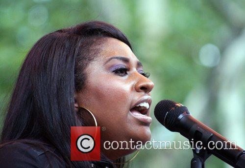 Jazmine Sullivan Performing At Central Park Summerstage 1