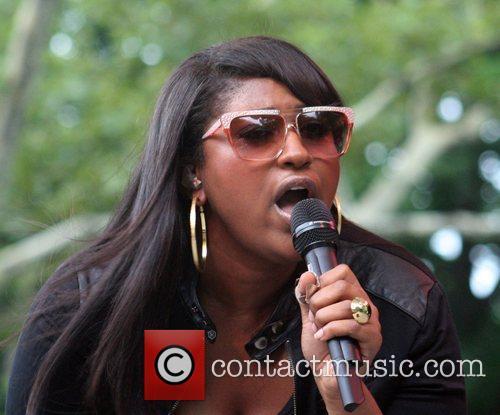 Jazmine Sullivan performing at Central Park SummerStage New...