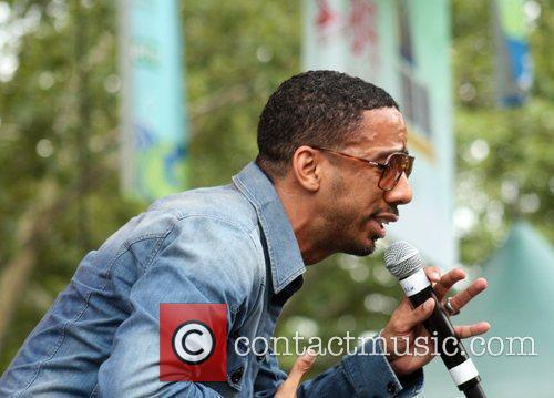 Ryan Leslie performing at Central Park SummerStage New...