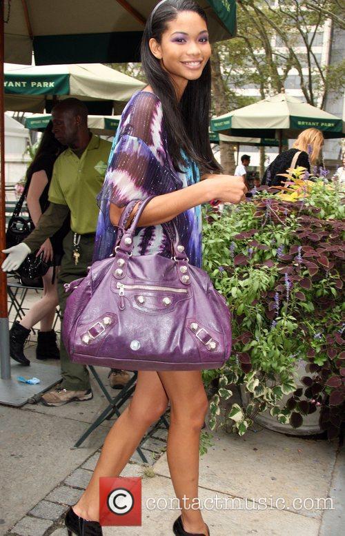 Chanel Iman attends the Michael Kors New York...
