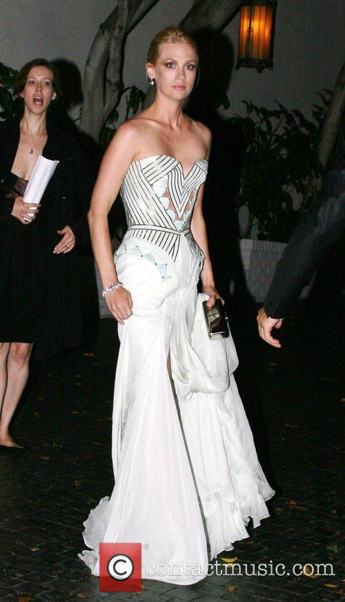 January Jones at the Chateau Marmont after the...