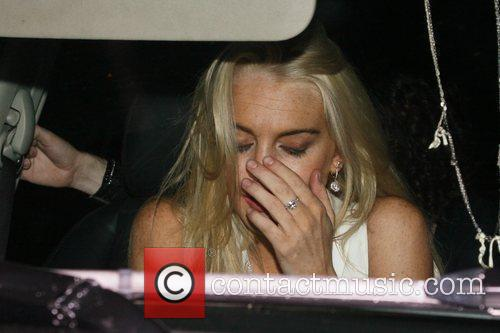 Lindsay Lohan at the Chateau Marmont after the...