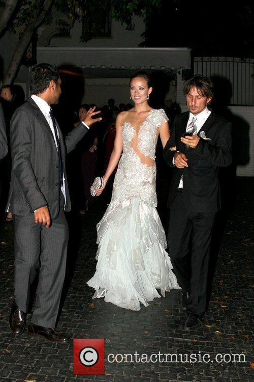 Olivia Wilde and guest at the Chateau Marmont...