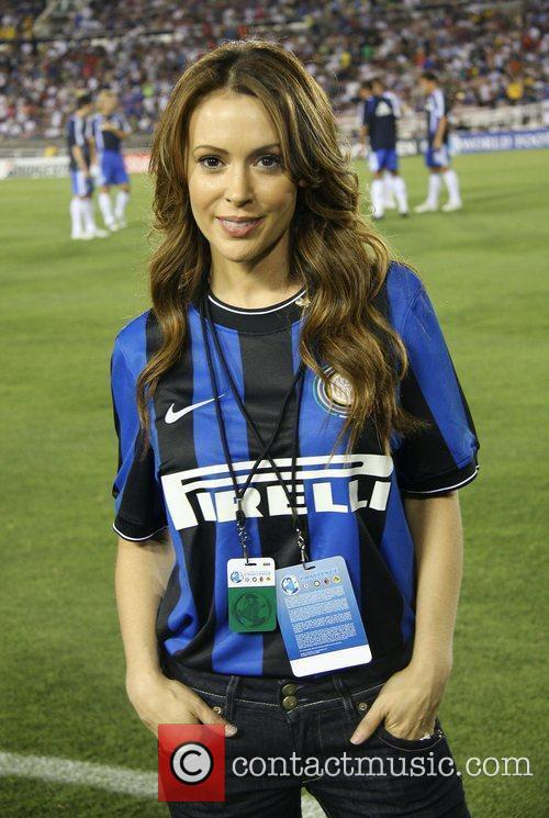 Alyssa Milano Chelsea v Inter Milan at the...