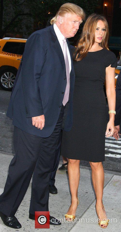 Donald Trump and Melania Knauss Trump Screening Of...