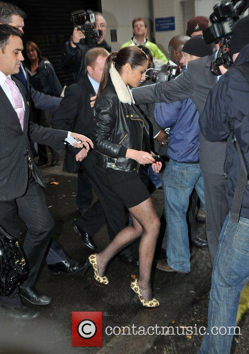 Leaving her London hotel