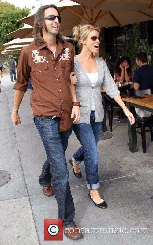 Cheryl Hines  seen arriving at Toast Bakery...