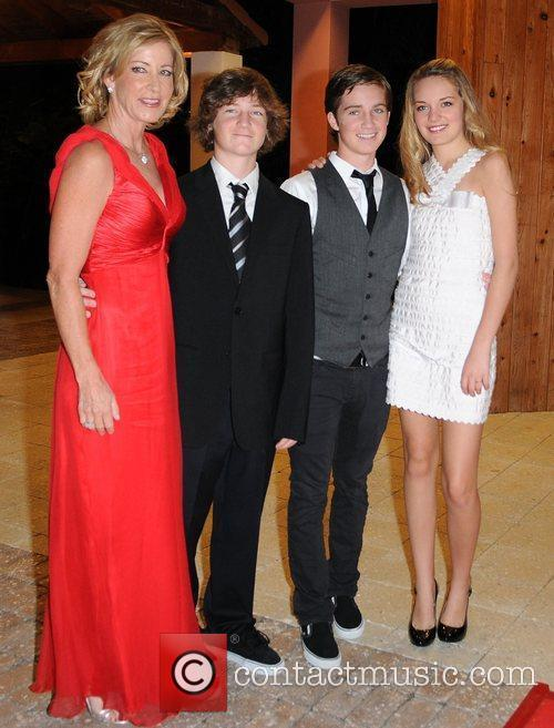 Chris Evert and Family 7