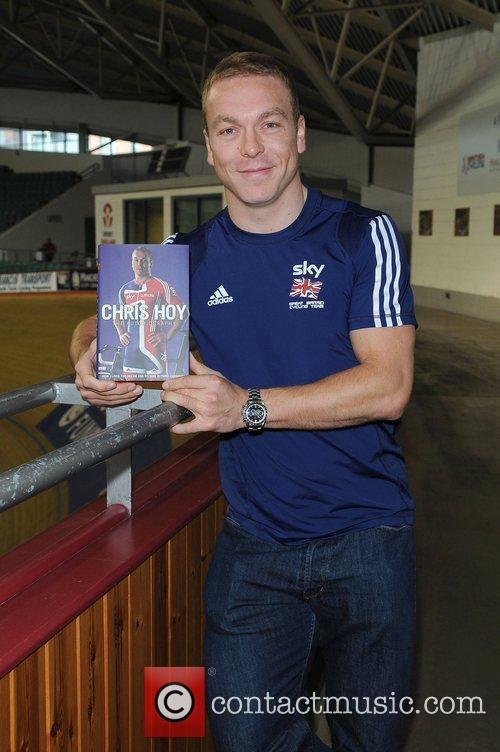 Signs copies of his autobiography 'Chris Hoy: The...
