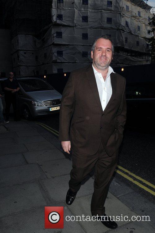 Chris Moyles  arriving at Nobu Park Lane...