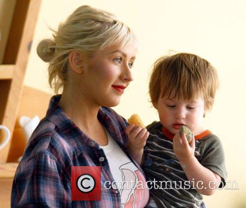 Christina Aguilera and Her Son Max 1