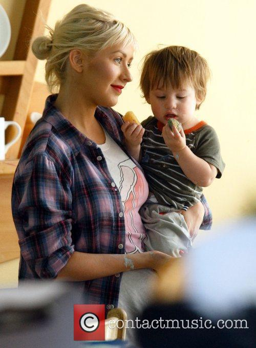 Christina Aguilera and Her Son Max 9