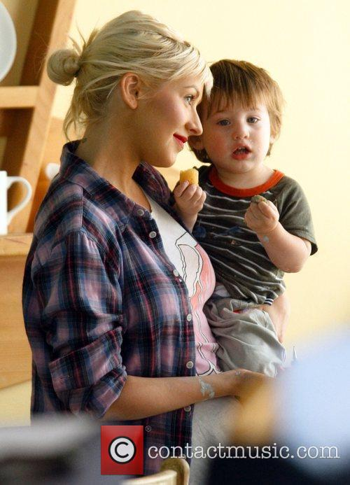 Christina Aguilera and Her Son Max 3