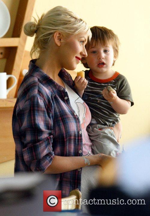 Christina Aguilera, her son Max