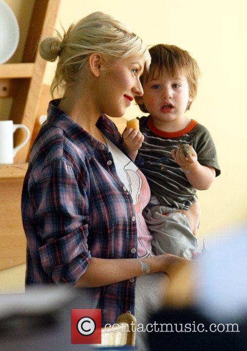 Christina Aguilera and Her Son Max 11