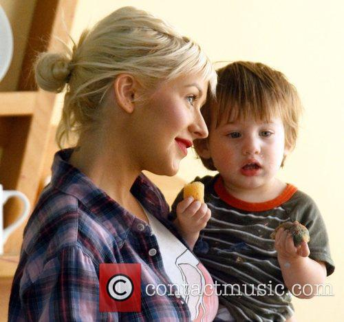 Christina Aguilera and Her Son Max 8