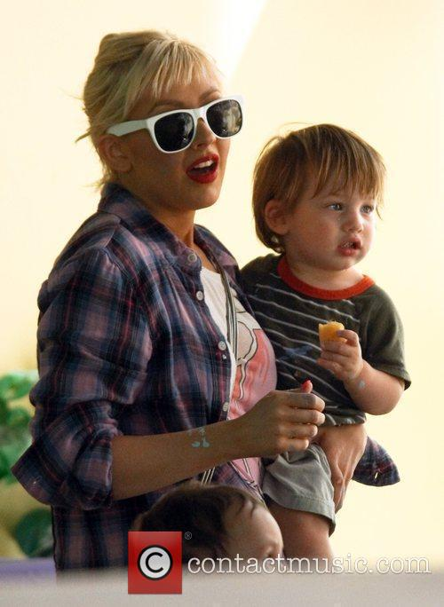 Christina Aguilera and Her Son Max 6
