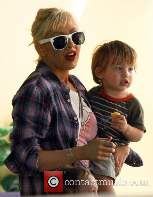 Christina Aguilera and Her Son Max 7